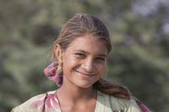 Żebrak indyjska dziewczyna w Pushkar, India Fotografia Stock