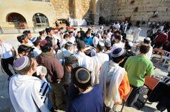 Ebrei di preghiera Fotografie Stock Libere da Diritti