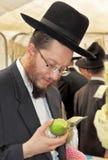 Ebrei religiosi in cappelli neri Fotografia Stock Libera da Diritti