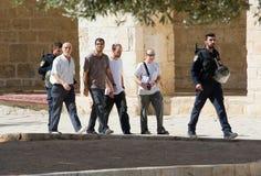 Ebrei sul tempio-quadrato Fotografia Stock Libera da Diritti