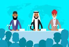 Ebreo indiano arabo dei capi internazionali di conferenza illustrazione vettoriale