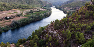 Ebro river Stock Photography