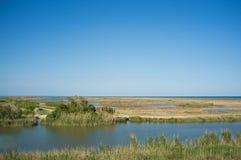 Ebro delta landscape Stock Images