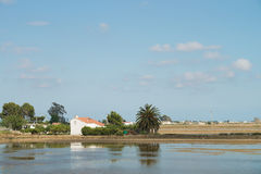 Ebro Delta landscape in Spain Stock Photos