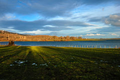 Ebro reservoir. At sunset. Cantabria. Spain Stock Photography