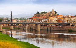 Ebro river and Suda Castle in Tortosa Royalty Free Stock Photography