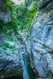 Ebro river through a valley in Cantabria, Spain Royalty Free Stock Photo