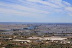 Ebro rivier en delta Stock Foto