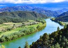 Ebro rzeka Najwięcej znacząco rzeki na Iberyjskim półwysepie zdjęcie royalty free