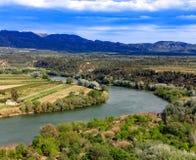 Ebro rzeka Najwięcej znacząco rzeki na Iberyjskim półwysepie obrazy royalty free