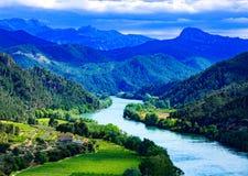 Ebro rzeka Najwięcej znacząco rzeki na Iberyjskim półwysepie obraz royalty free