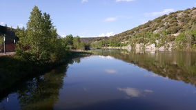 Ebro in Soria. Castilla leon, Spain royalty free stock photo