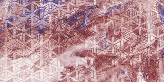 Очень красивая пурпурная мраморная картина Обои абстрактного искусства Искусство и золото Бумага Ebru- турецкая r E стоковое изображение