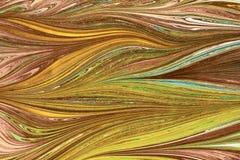 Ebru- marmorpapper Fotografering för Bildbyråer