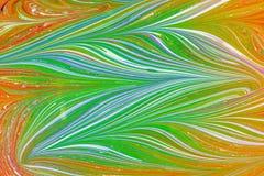 Ebru- marmorpapper Royaltyfria Bilder
