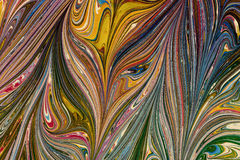 Ebru- marmorpapper Royaltyfri Bild
