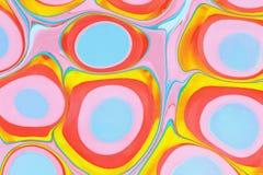 Ebru- marmurowy papier Zdjęcie Royalty Free