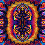 Ebru Oil Abstracte geometrische patroonebru Stock Foto's