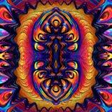 Ebru Oil Ebru geometrico astratto del modello Fotografie Stock