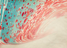 Ebru paper blur red natural paints Stock Photo