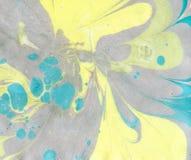 Ebru sztuka Malować na wodzie Obrazy Stock