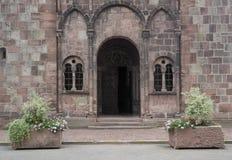 Ebtrance of Ste-Foy de Selestat. Entrance of a church in Selestat Royalty Free Stock Photo