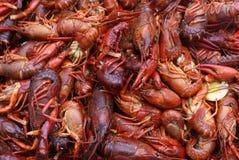 Ebullición de los cangrejos imagenes de archivo