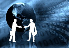 Ebusiness Handshake Stock Images