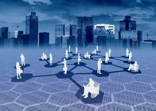 Ebusiness-Netz Stockbild