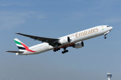 A6-EBX Emirates Boeing 777-31H(ER) royalty free stock photography