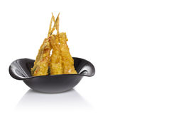 Eby shrimp in tempura  Royalty Free Stock Photo