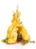Eby shrimp in tempura  Royalty Free Stock Image
