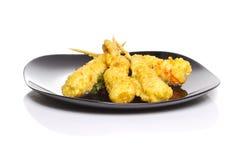 Eby shrimp in tempura  Royalty Free Stock Photos