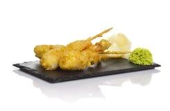 Γαρίδες Eby στο tempura Στοκ Εικόνες
