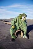 Ecólogo científico no deserto urbanístico imagens de stock