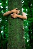 Ecólogo do hugger da árvore foto de stock