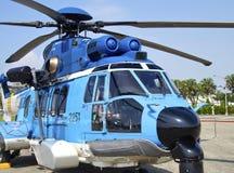EC-225直升机 免版税库存照片