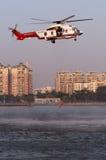 EC225抢救直升机 免版税库存照片