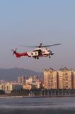 EC225抢救直升机 免版税图库摄影