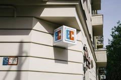 EC bankowości karty znak firmowy Fotografia Royalty Free