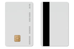 EC en blanco de la tarjeta de crédito Fotos de archivo libres de regalías