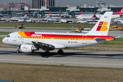EC-KOY Iberia, flygbuss A319-111 Arkivfoto