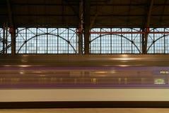 EC pociąg od Praga Wiedeń Obrazy Stock