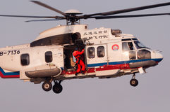 EC225 ratuneku helikopter Zdjęcie Royalty Free