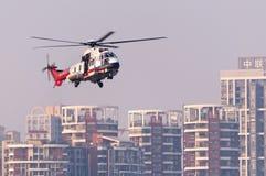 EC225 ratuneku helikopter Zdjęcia Stock