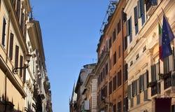 ec zaznacza Rome rzymską ulicę Obraz Stock
