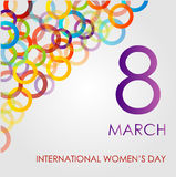Ecard for womens day Stock Photos