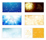 eCards för jul och för nytt år Royaltyfri Fotografi