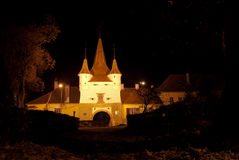 Ecaterina Gate from Brasov at night Royalty Free Stock Image