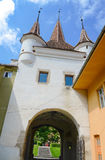 Ecaterina Gate was built for the access of Romanians from Schei district in the fortress of Brasov. Stock Photos